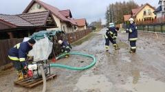 2018.01.28 Pompowanie wody ul. Klenczona - Kieźliny