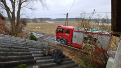 2018.03.08 Pożar sadzy w Tuławkach + wypadek Gady-Barczewko