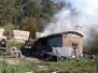 2019.04.20 Pożar baraku mieszkalnego Dywity